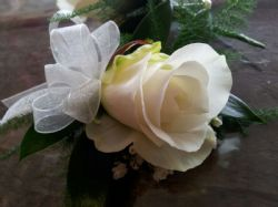 Ladies Ivory Rose Buttonhole